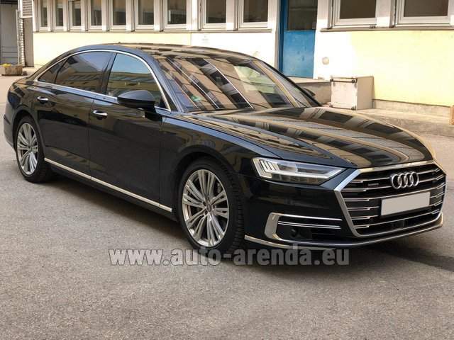 Transfer from Davos to Zurich Airport by Audi A8 Long 50 TDI Quattro car