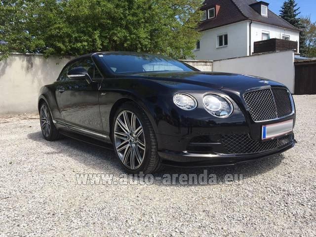 Rental Bentley Continental GTC V12-Speed in Switzerland