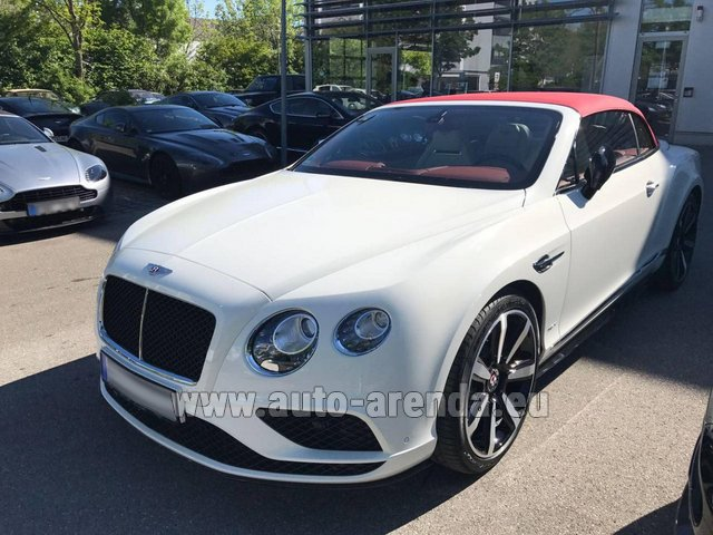 Rental Bentley Continental GTC V8 S in Geneva