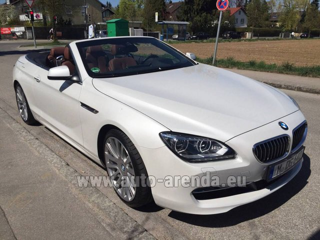 Rental BMW 640 Cabrio Equipment M-Sportpaket in Switzerland