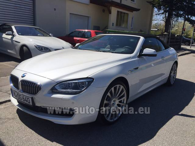 Rental BMW 640d Cabrio Equipment M-Sportpaket in Switzerland
