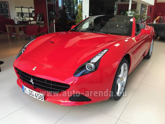 Rental Ferrari California T Convertible Red in Switzerland
