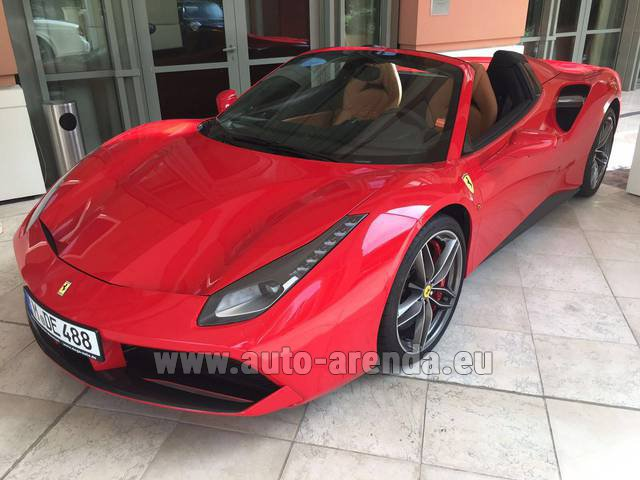Rental Ferrari 488 GTB Spider Cabrio in Switzerland