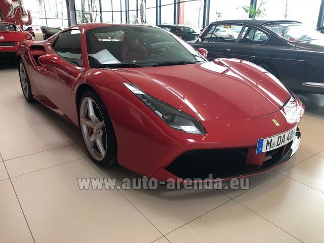Rental Ferrari 488 Spider in Geneva
