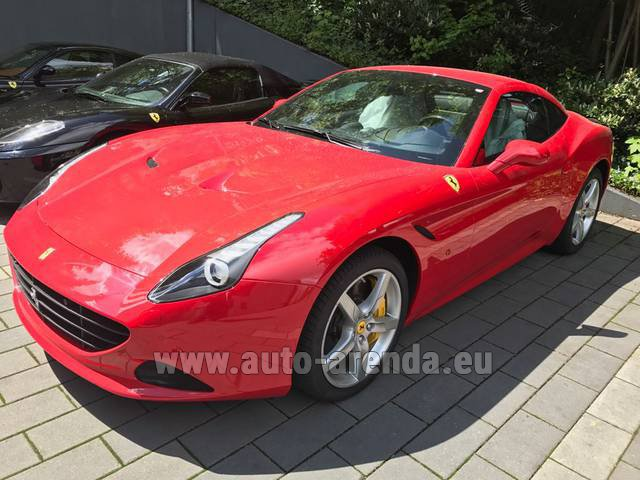Rental Ferrari California T Cabrio Red in Switzerland