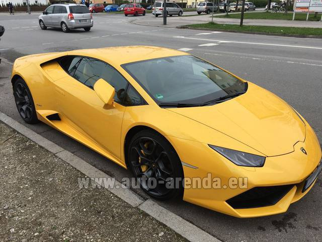 Rental Lamborghini Huracan LP 610-4 Yellow in Bienne