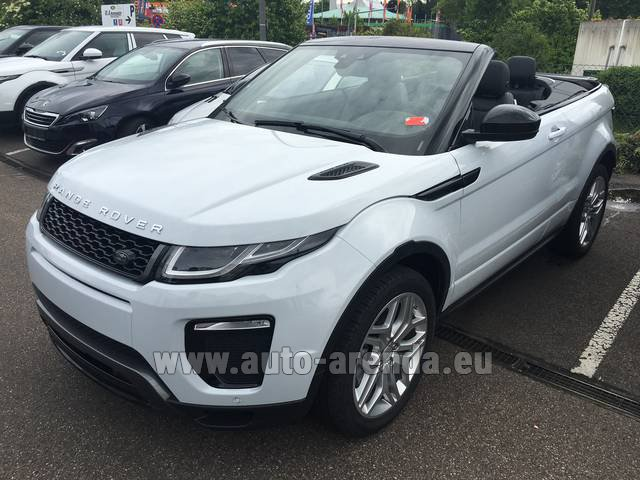 Rental Land Rover Range Rover Evoque HSE Cabrio SD4 Aut. Dynamic in Switzerland