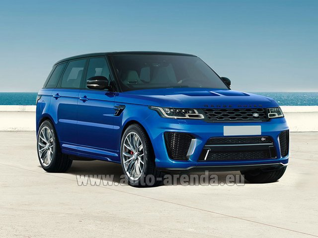 Rental Land Rover Range Rover Sport SVR V8 in Switzerland