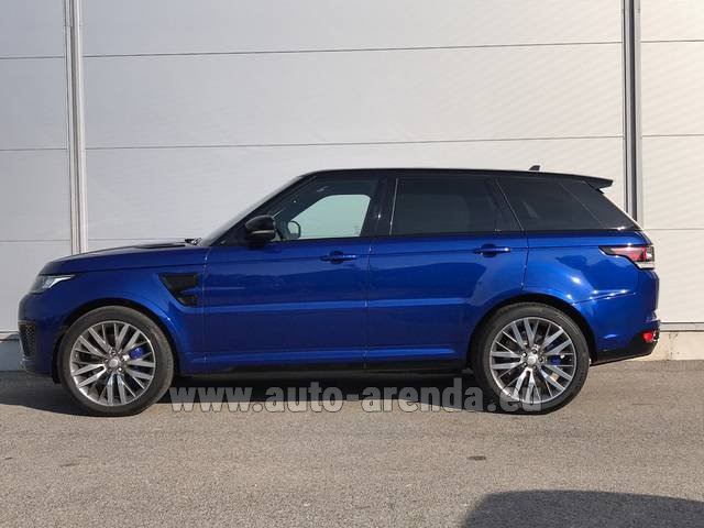 Rental Land Rover Range Sport SVR V8 in Switzerland
