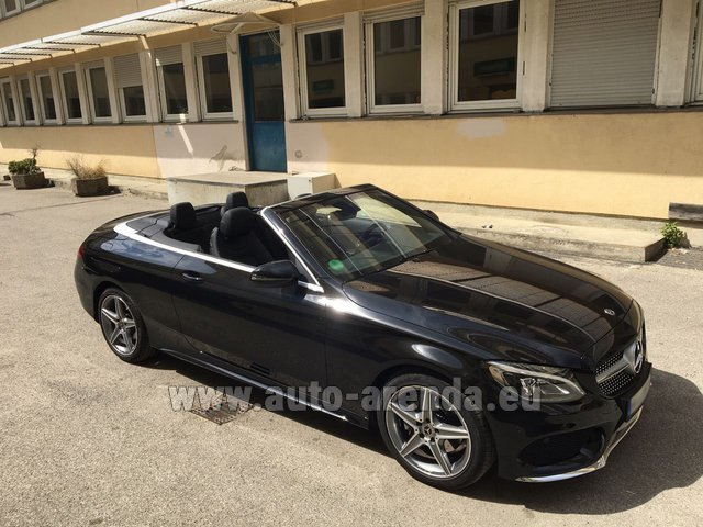 Rental Mercedes-Benz C 180 Cabrio AMG Equipment Black in Lugano