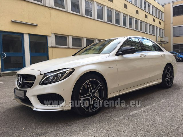 Rental Mercedes-Benz C-Class C43 AMG Biturbo 4MATIC White in Lugano
