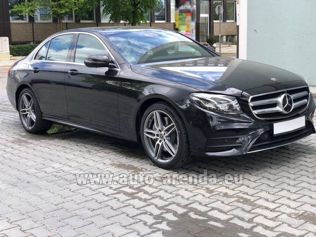 Rental Mercedes-Benz E 450 4MATIC saloon AMG equipment in Lugano
