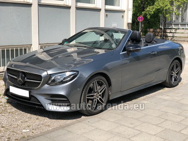 Rental Mercedes-Benz E 450 Cabriolet AMG equipment in Bienne