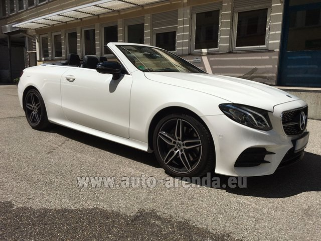 Rental Mercedes-Benz E-Class E 200 Cabrio equipment AMG in Lugano
