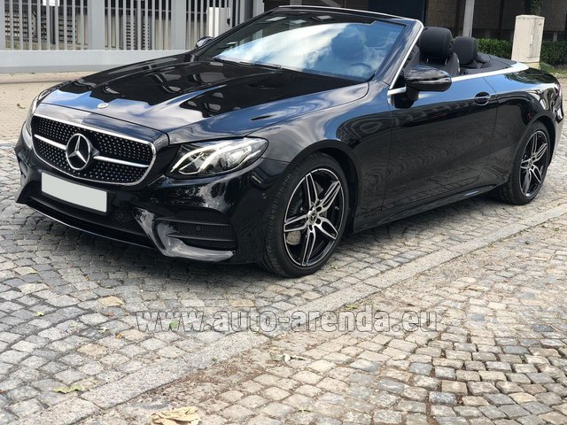 Rental Mercedes-Benz E-Class E220d Cabriolet AMG equipment in Lugano