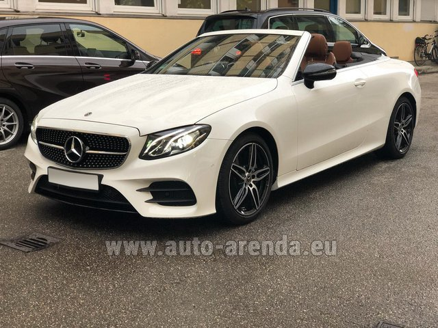 Rental Mercedes-Benz E-Class E300d Cabriolet diesel AMG equipment in Lugano
