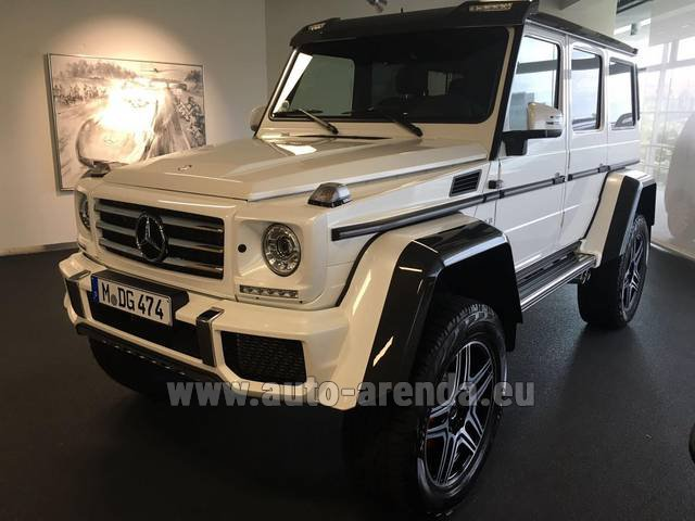Rental Mercedes-Benz G 500 4x4 White in Lugano
