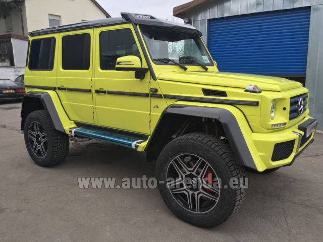 Rental Mercedes-Benz G 500 4x4 Yellow in Lugano