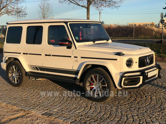 Rental Mercedes-Benz G 63 AMG White in Zurich