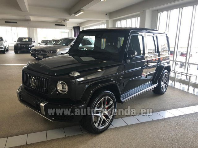 Rental Mercedes-Benz G63 AMG V8 biturbo in Lugano