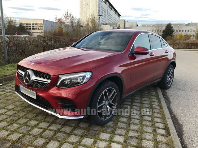 Rental Mercedes-Benz GLC Coupe equipment AMG in Lugano