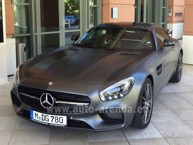 Rental Mercedes-Benz GT-S AMG in Lugano