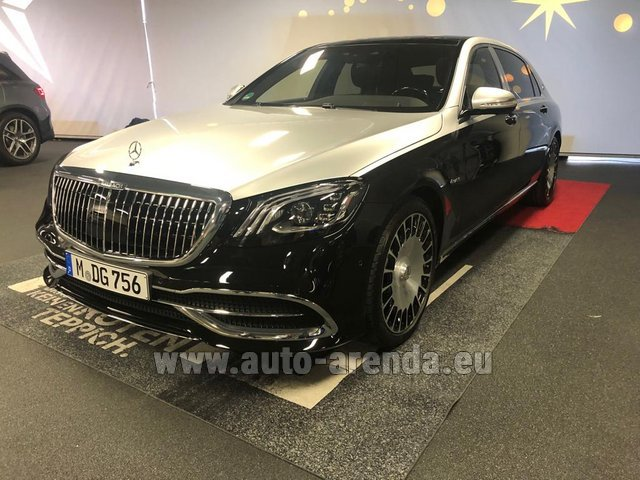 Rental Maybach S 560 4MATIC AMG equipment Metallic and Black in Lausanne