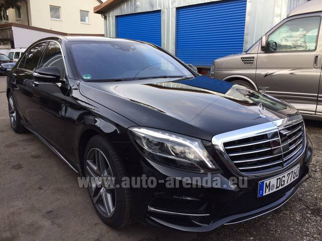 Rental Mercedes-Benz S 350 L BlueTEC AMG Black in Luzern