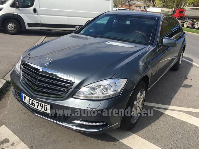 Transfer from Davos to Zurich Airport by Mercedes S 600 Long B6 B7 GUARD 4MATIC car