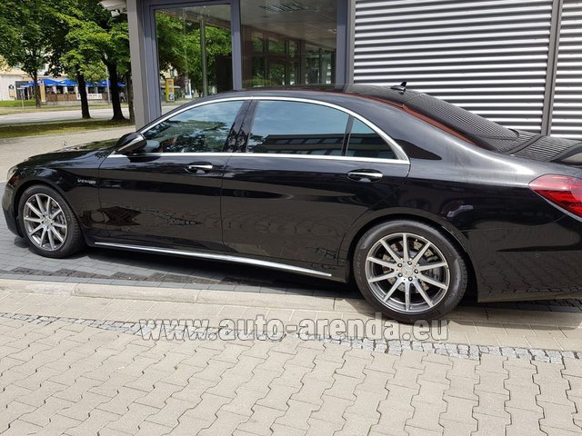 Transfer from Davos to Zurich Airport by Mercedes S63 AMG Long 4MATIC car