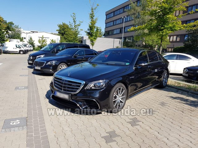 Rental Mercedes-Benz S 63 AMG Long in Lugano