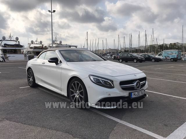 Rental Mercedes-Benz S 63 Cabrio AMG in Lugano