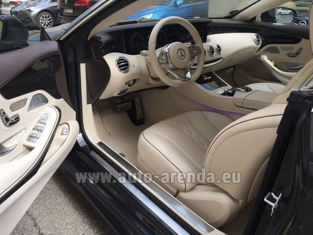 Rental Mercedes-Benz S-Class S 560 4MATIC Coupe in Lugano