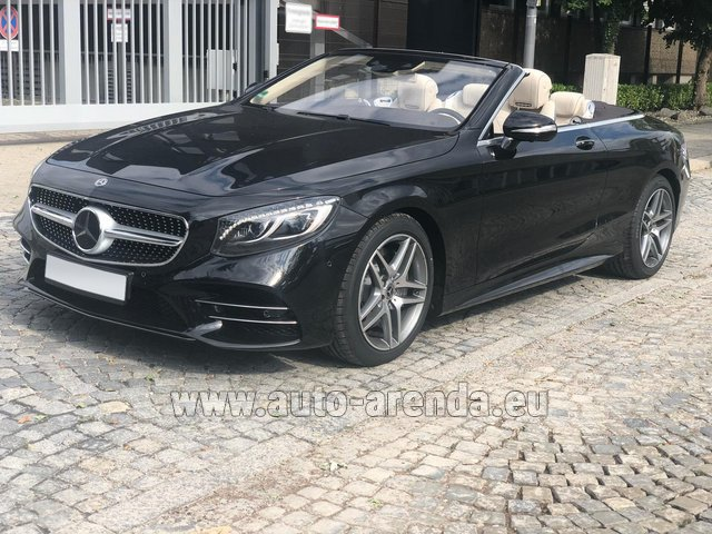 Rental Mercedes-Benz S-Class S 560 Cabriolet 4Matic AMG equipment in Lugano