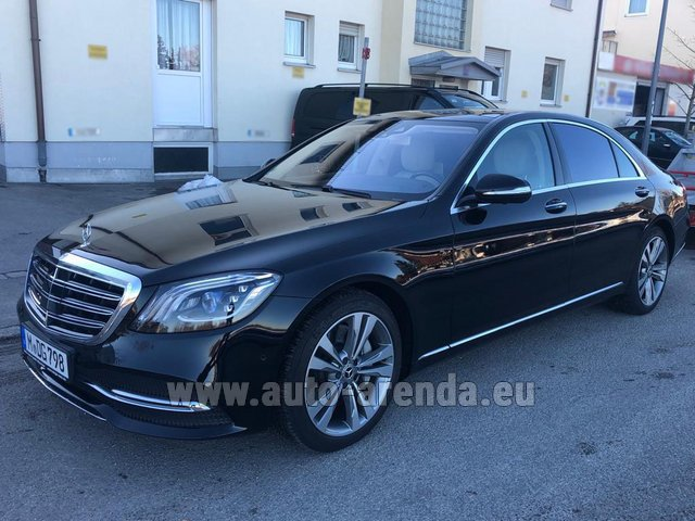 Rental Mercedes-Benz S-Class S400 Long Diesel 4Matic AMG equipment in Lugano