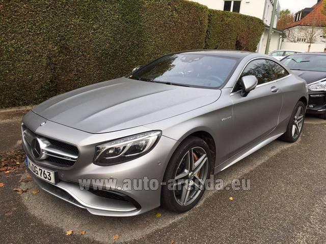 Rental Mercedes-Benz S-Class S63 AMG Coupe in Lugano