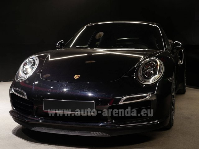 Rental Porsche 911 991 Turbo S Ceramic LED Sport Chrono Package in Geneva