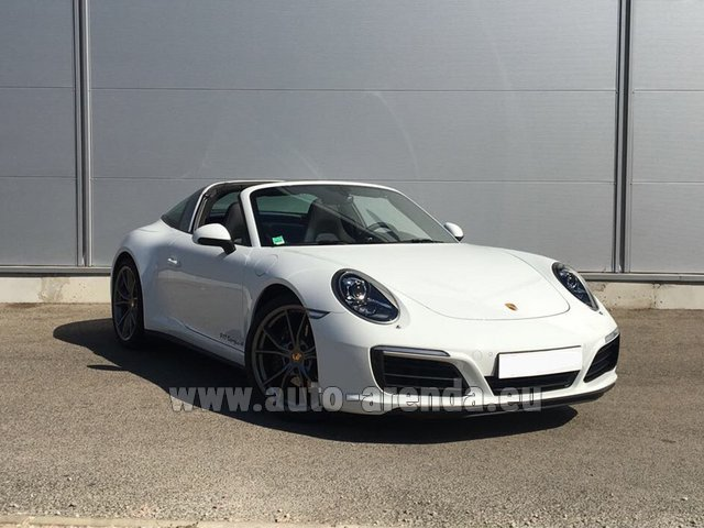 Rental Porsche 911 Targa 4S White in Bienne
