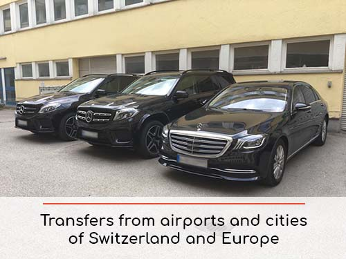 Transfers from airports and cities in Switzerland and Europe | Car rental with driver